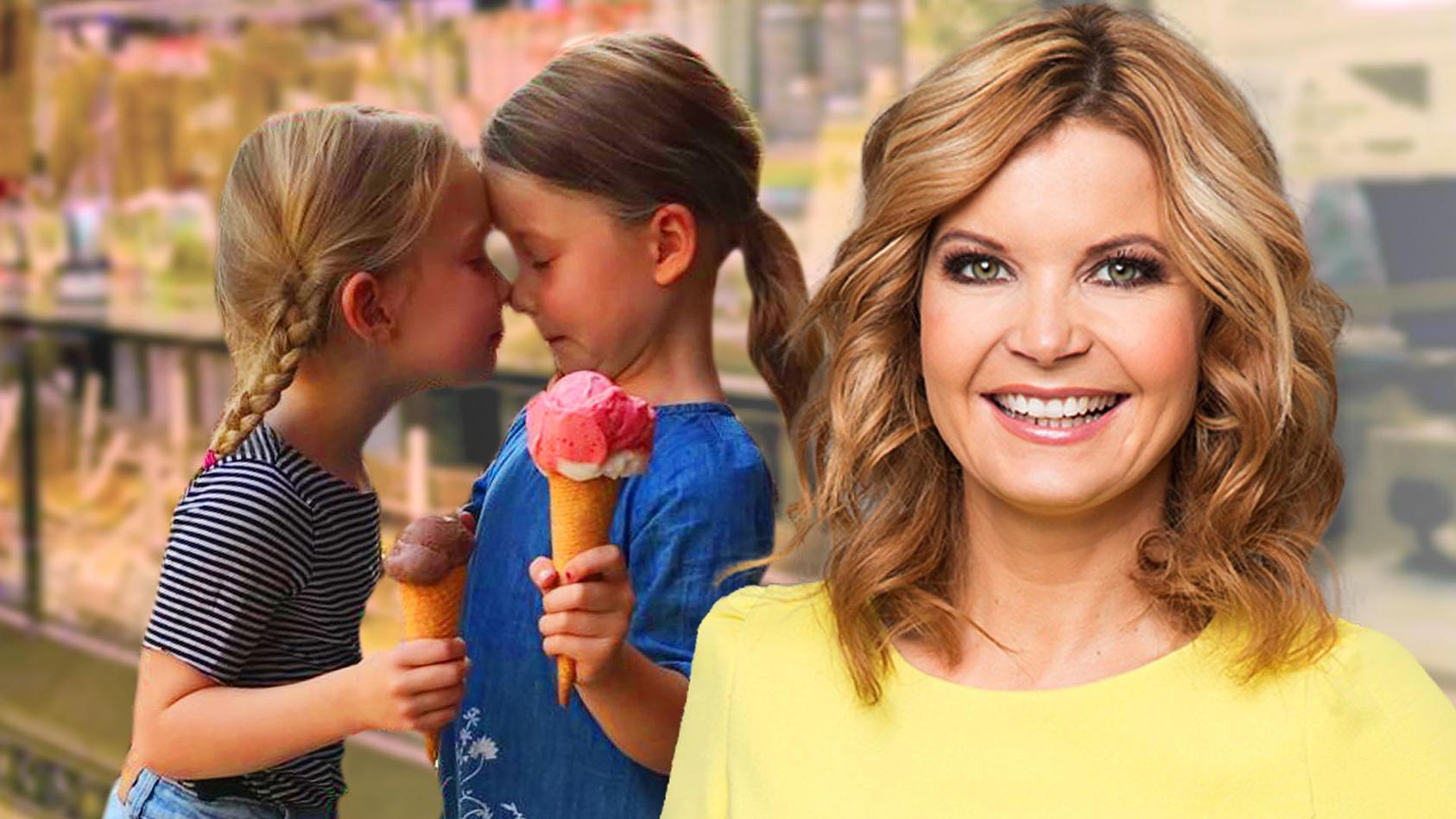 Eva Imhofs Zwillinge dürfen auch Eis essen, wenn sie Lust dazu haben.