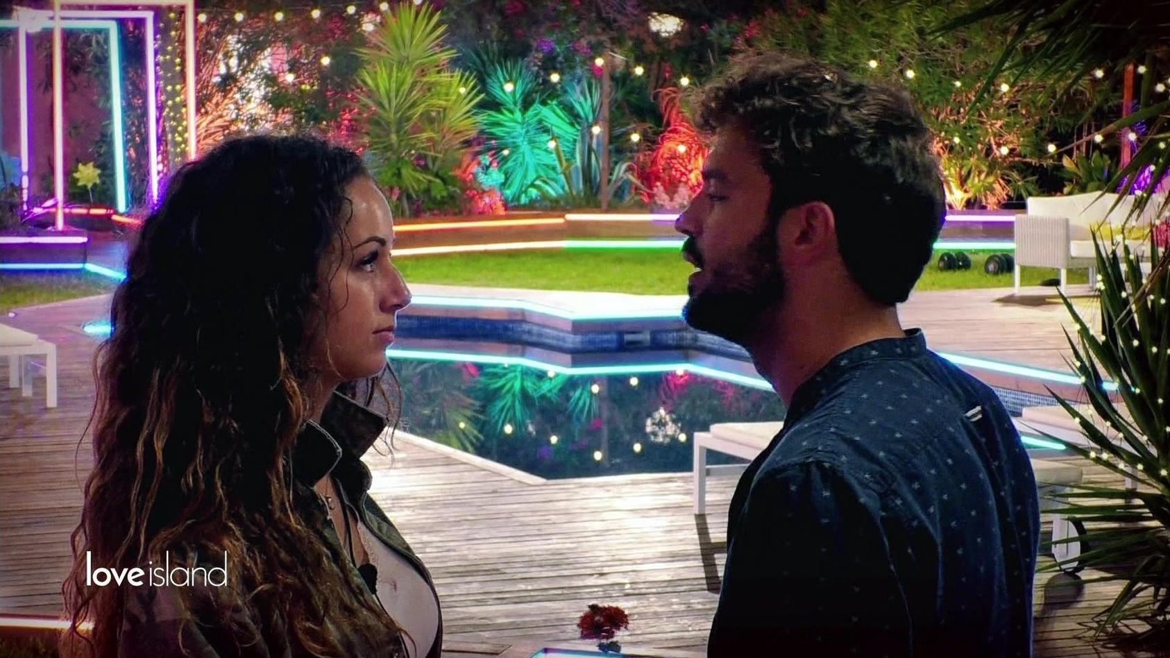 """""""Love Island""""-Paar-Alarm: Samira bekommt eine Liebeserklärung von Yasin."""