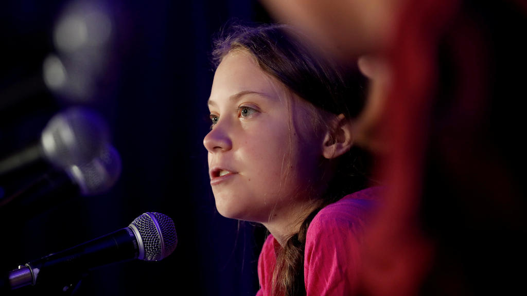 FILE PHOTO: Swedish climate activist Greta Thunberg speaks with other child petitioners from 12 countries who presented a landmark complaint to the United Nations Committee on the Rights of the Child to protest the lack of government action on the cl