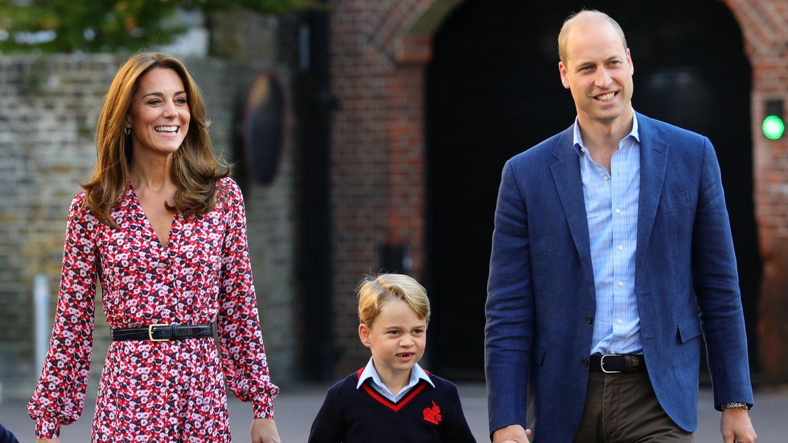 Herzogin Kate und Prinz William mit ihrem erstgeborenen Sohn Prinz George