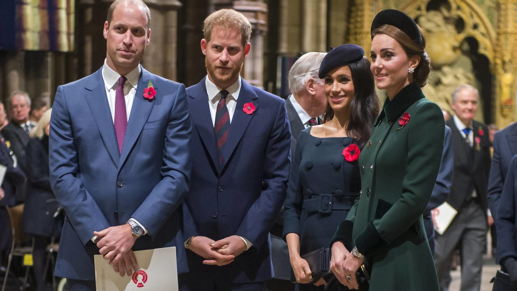 "Es war einmal .... Die royalen ""Fab Four"" William, Harry, Meghan und Kate friedlich vereint."