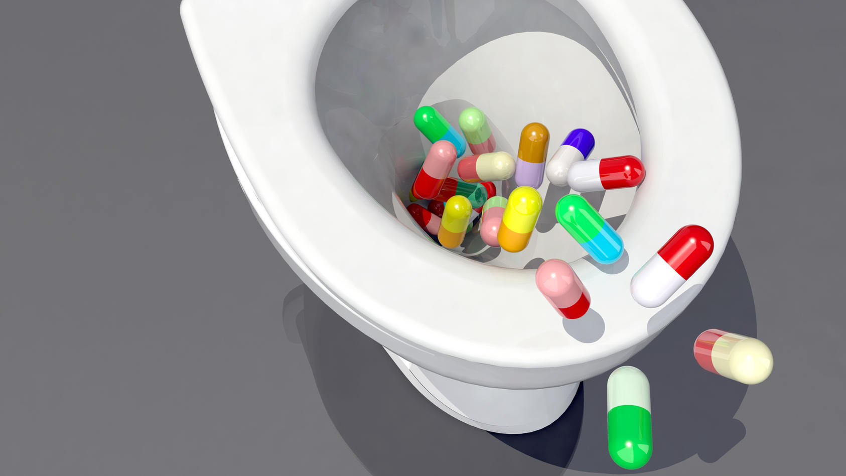 Jeder vierte Deutsche hat flüssige Medikamente schon mal über die Toilette oder das Waschbecken entsorgt.