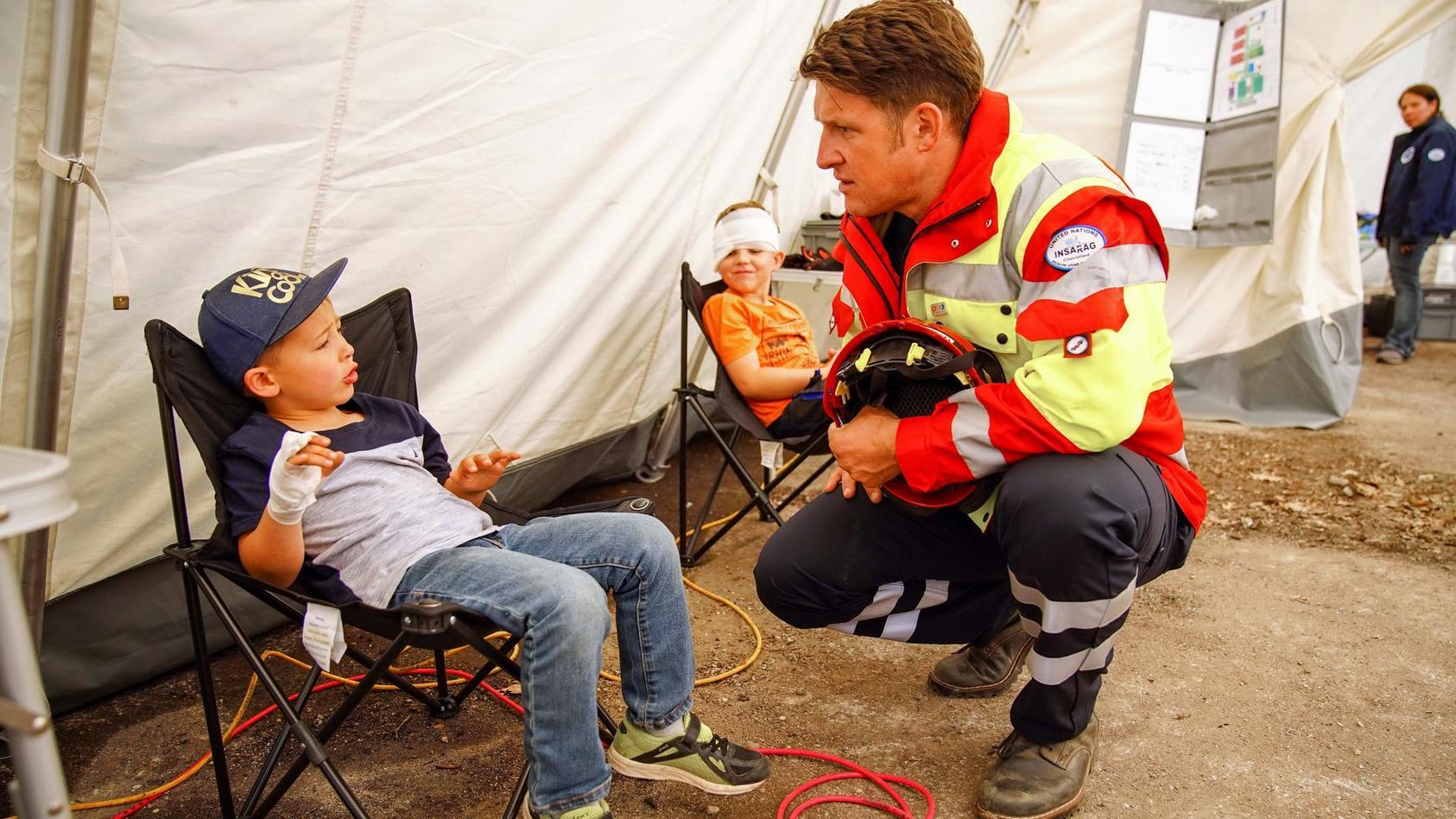 Im Katastrophenfall muss alles Hand in Hand gehen. Matthias Steiner ist beeindruckt von der Rettungsübung der I.S.A.R. Germany.