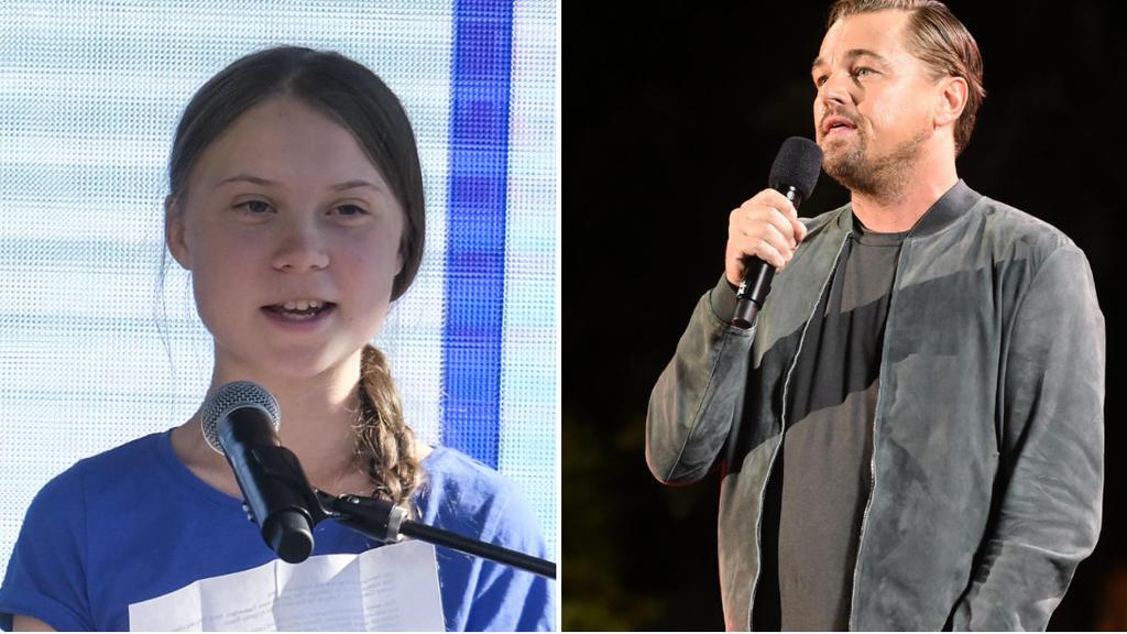Promis wie Leonard DiCaprio unterstützen Thunberg im Kampf gegen die Klimakrise.