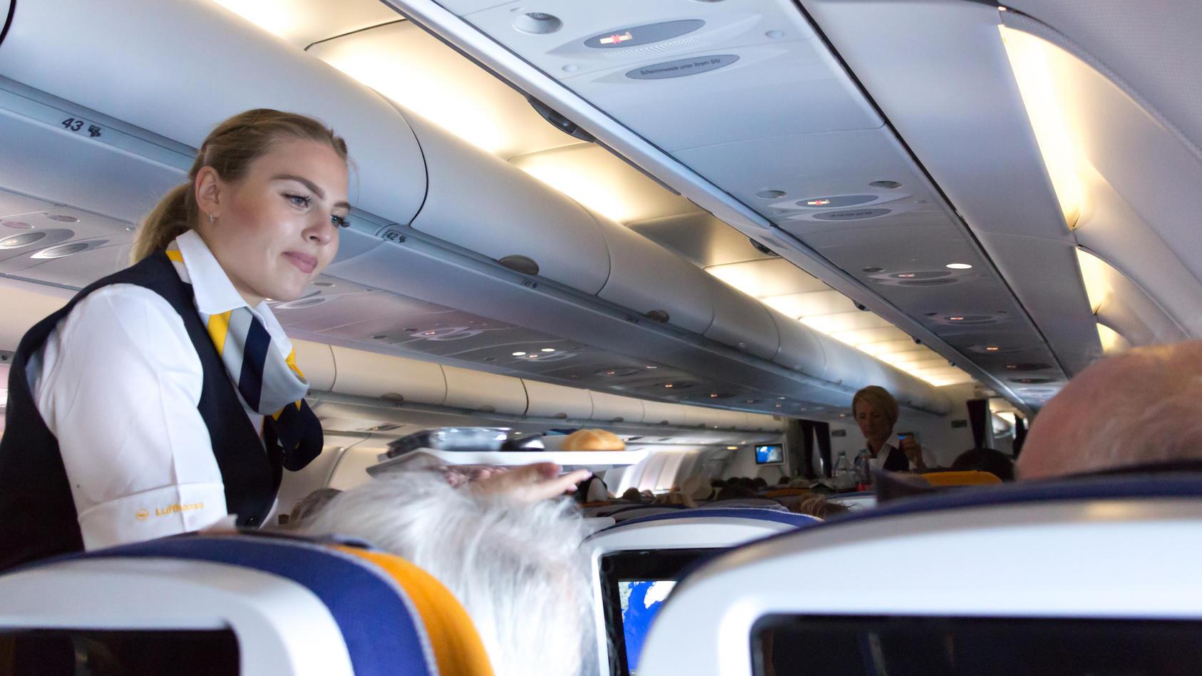 Gäste werden an Bord von Lufthansa-Flügen künftig geschlechtsneutral begrüßt.