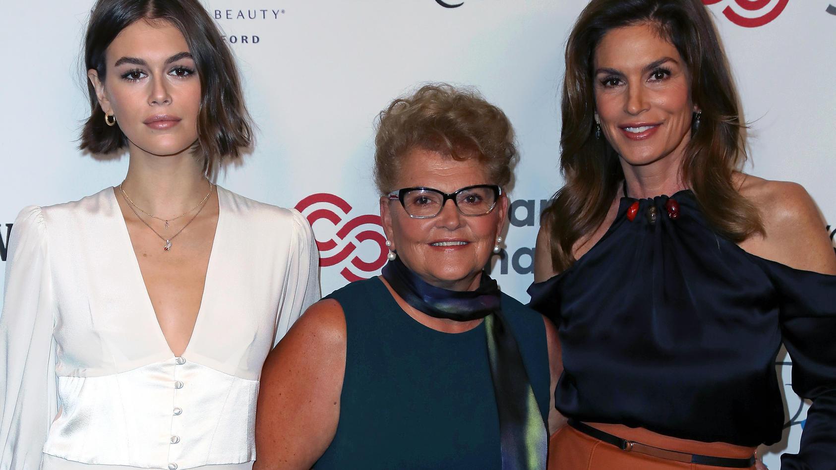 Cindy Crawford mit ihrer Mutter und Tochter bei einer Veranstaltung in LA.