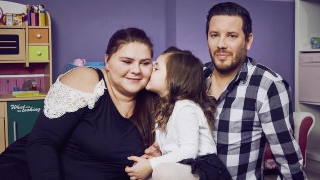 Sylvana Wollny und ihre kleine Familie