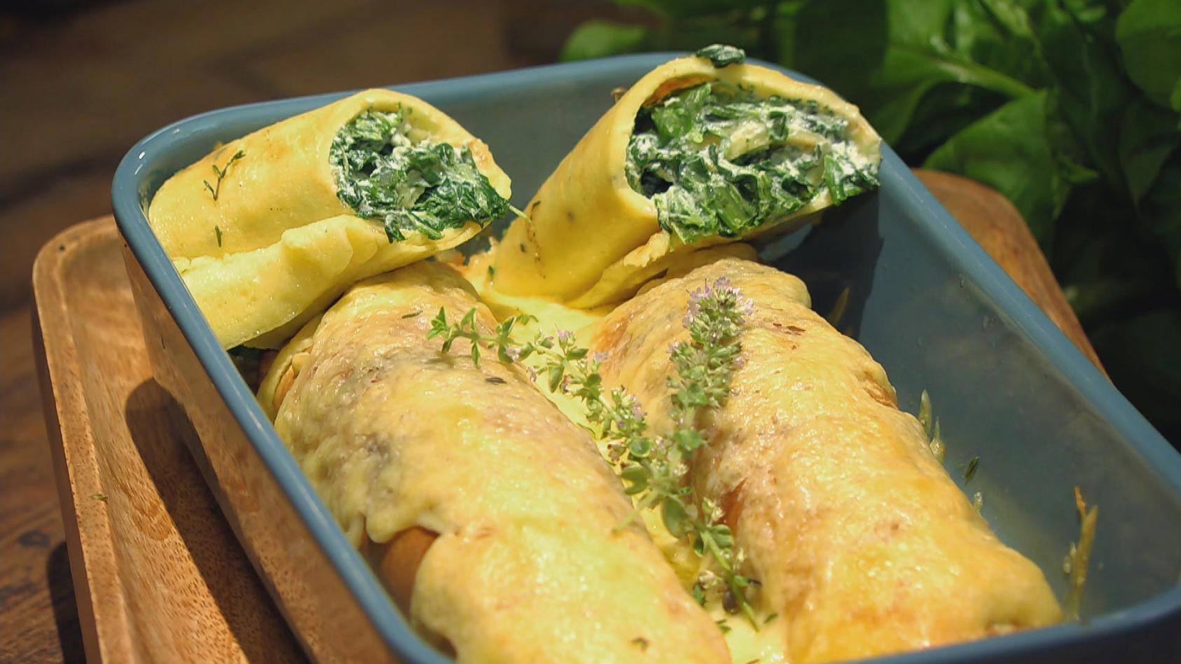 La deutsche Vita – Schmeckt wie bei Mamma!:  Crespelle mit Spinat