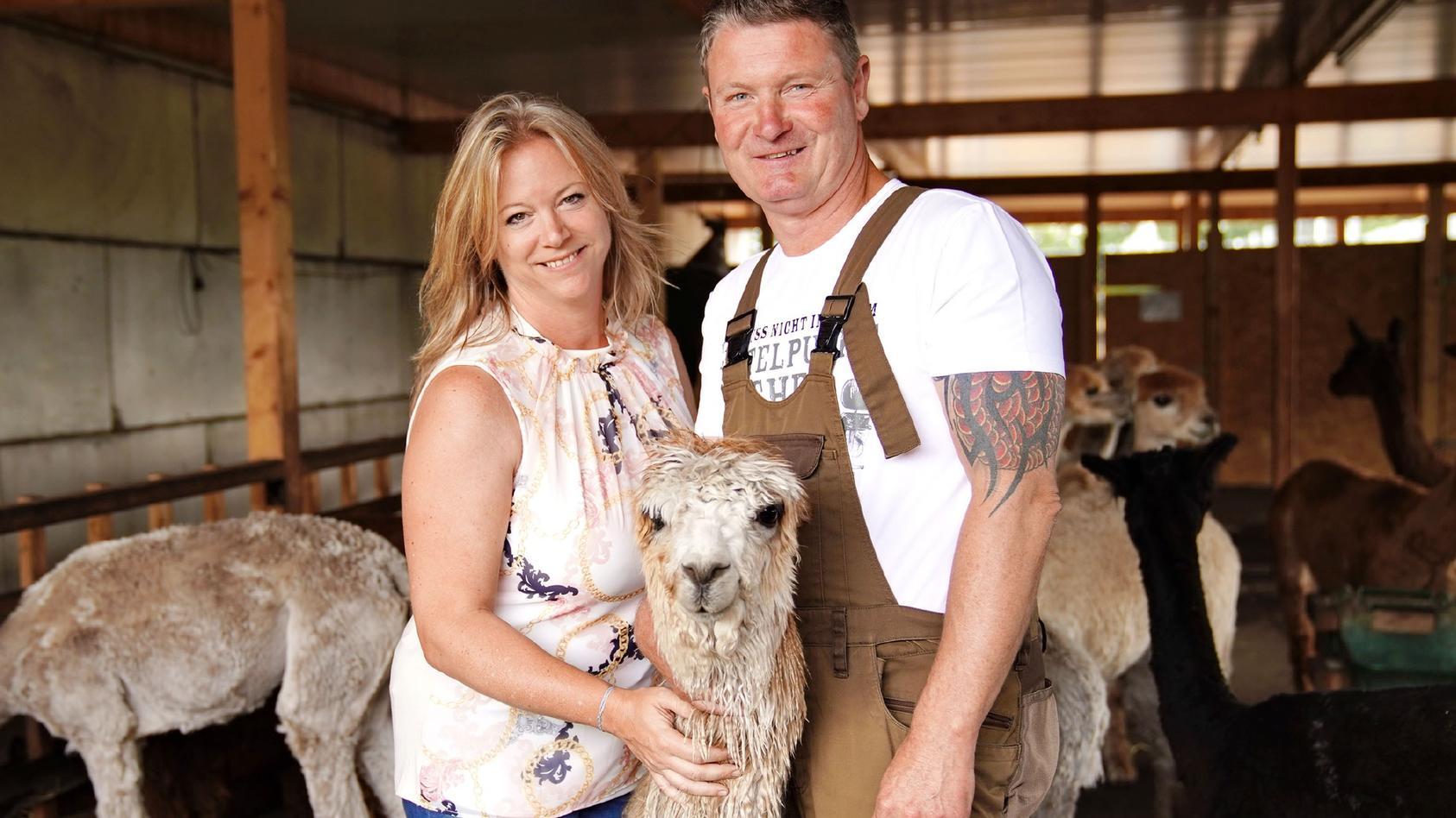 Bauer sucht Frau 2019: Alpakazüchter Henry mit seiner Hofdame Sabine
