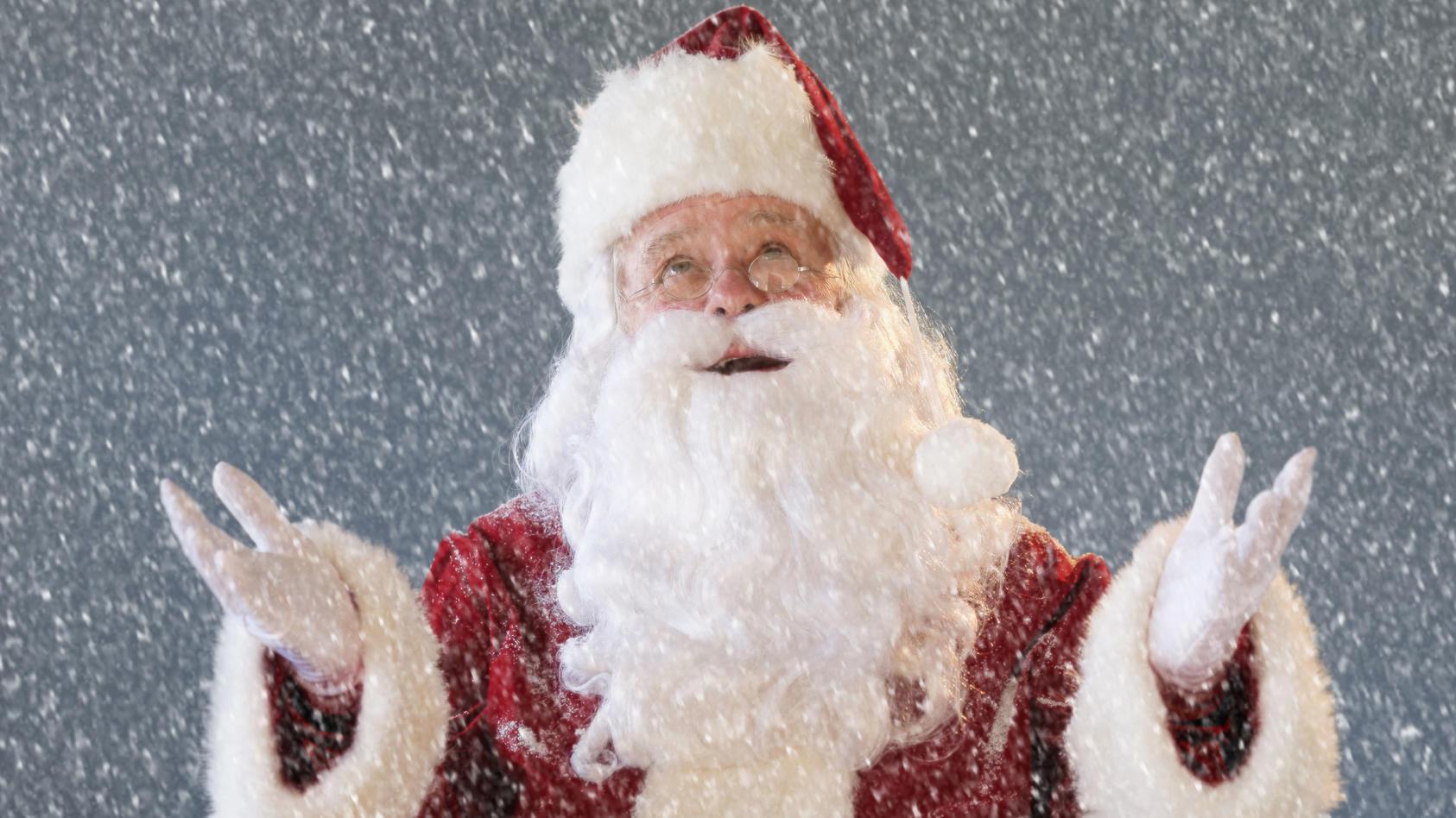 Grün oder weiß? Dem Weihnachtsmann dürfte es fast egal sein.