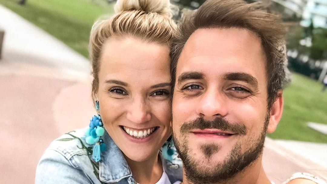 Marc Barthel mit Freundin Anna Hofbauer.