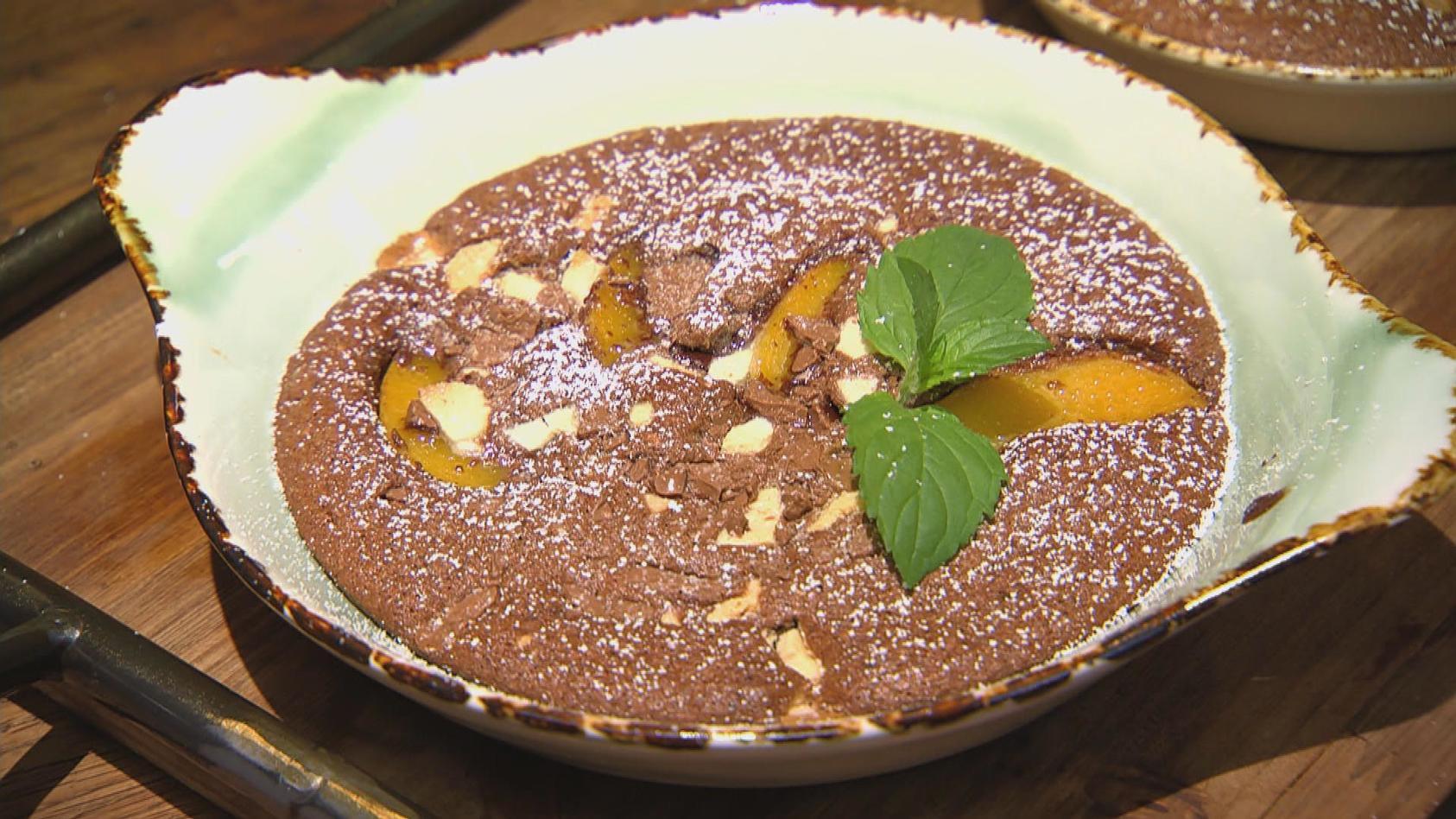 Das Reste zum Schluss - Aus Resten tolle Gerichte zaubern: Schokoladen-Obstauflauf