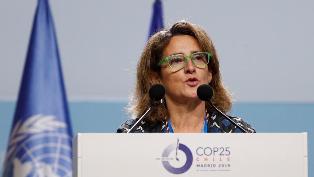 Acting Spanish Ecological Transition Minister, Teresa Ribera, delivers a speech during the opening of high level segment of COP25 UN Climate Change Conference in Madrid, Spain, 10 December 2019. The summit runs in Spanish capital until next 13 Decem