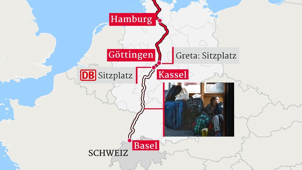 Gretas Fahrt quer durch Deutschland