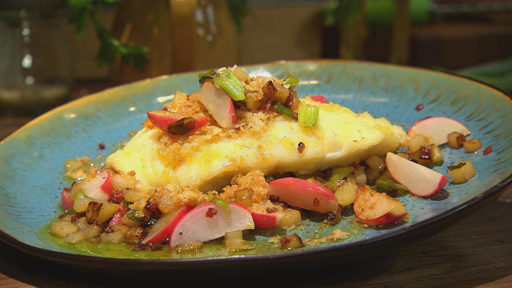 Himmlisches Dinner – Einfach zum Dahinschmelzen: Kabeljau mit Bratgemüse
