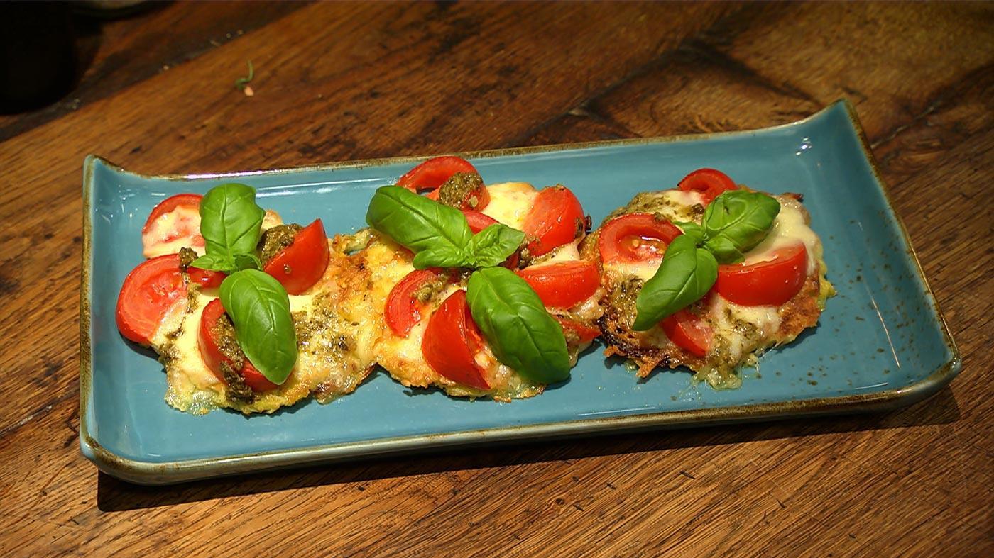 Das schmeckt allen – Kochen für die Familie: Puffer-Pizzen