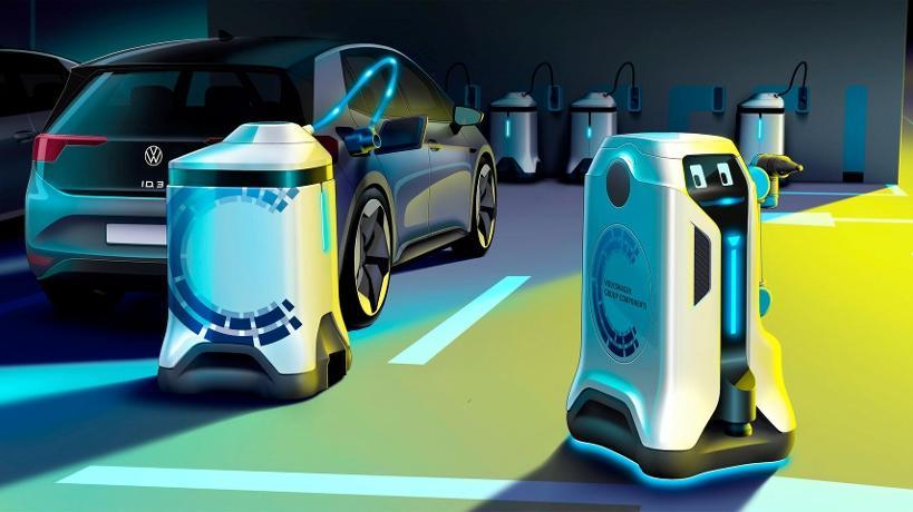 Die rollenden Geräte werden über eine App oder Assistenzsysteme der E-Fahrzeuge aktiviert.