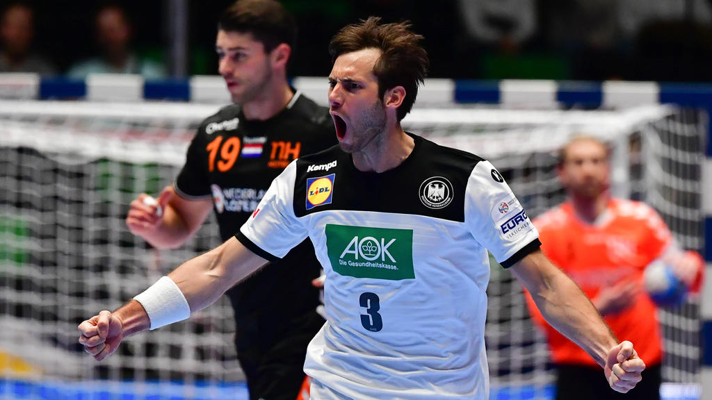 Handball-EM Deutschland - Niederlande am 09.01.2020 in der Nye Nidarohallen in Trondheim Uwe GENSHEIMER  Deutschland  *** Handball EM Germany Netherlands on 09 01 2020 in the Nye Nidaro halls in Trondheim Uwe GENSHEIMER Germany xMNx