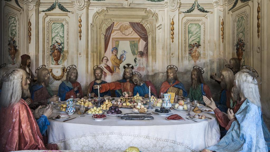 Jesus mit seinen Jüngern beim letzten Abendmahl