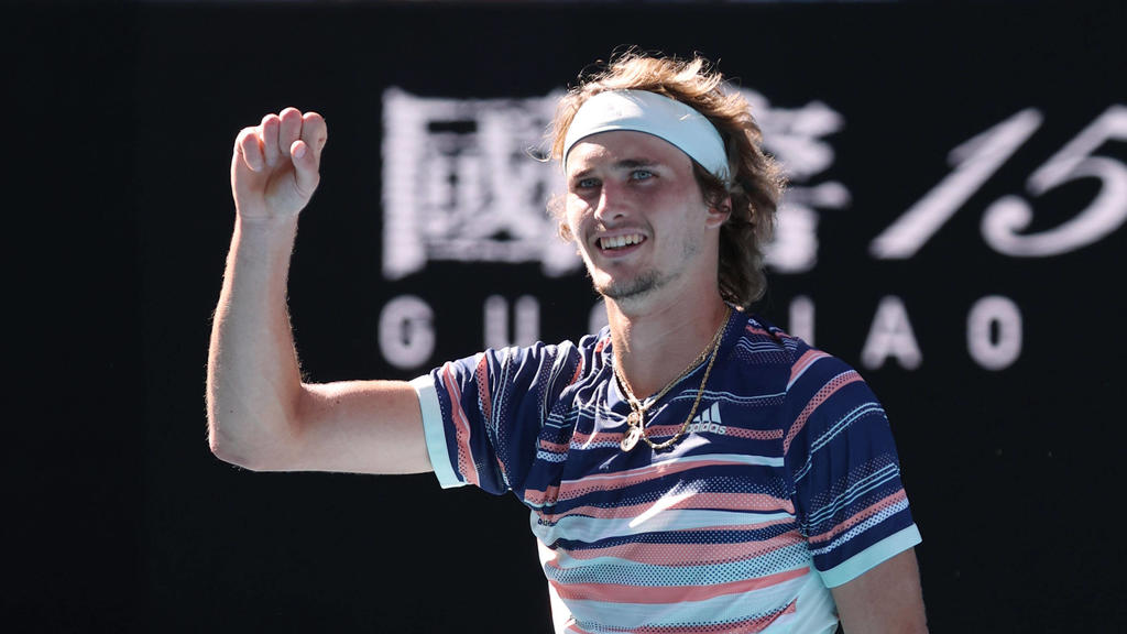 Alexander Zverev, GER, during quarterfinals of 2020 Australian Open in Melbourne, 29/01/2020 - *** Alexander Zverev, GER, during quarterfinals of 2020 Australian Open in Melbourne, 29 01 2020 PUBLICATIONxNOTxINxCHNxSUI