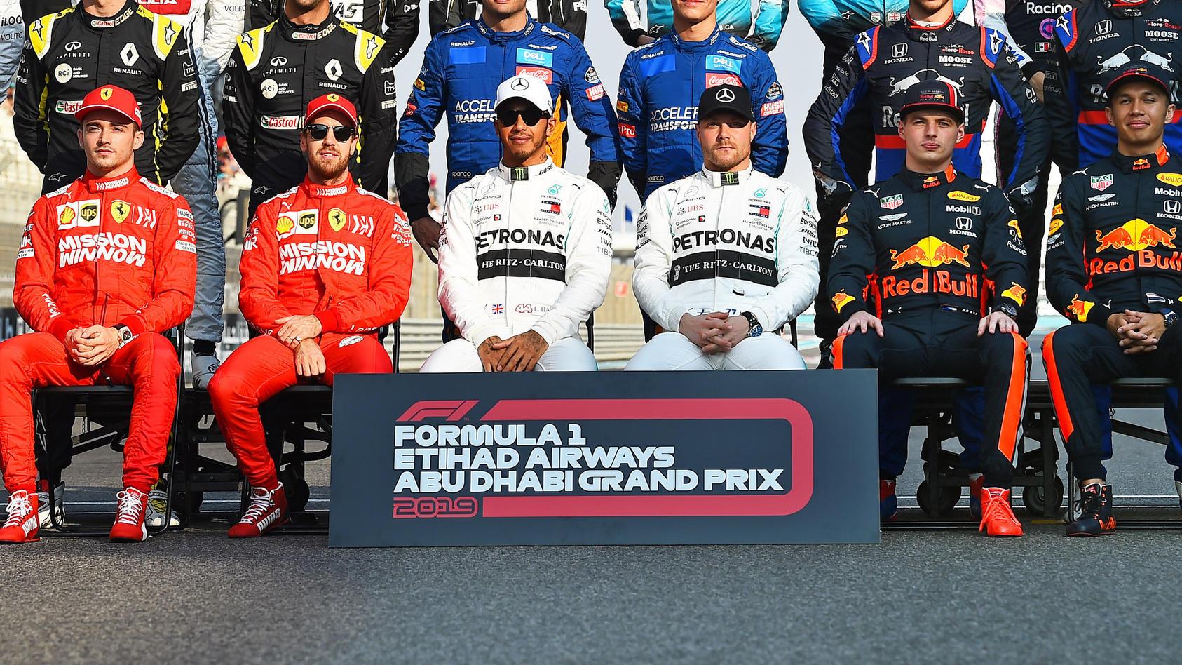 Sport Bilder des Tages Formel 1, GP Abu Dhabi, Fahrerfoto zum Saisonende 01.12.2019, xekx, Motorsport FIA, Formel 1 Groß