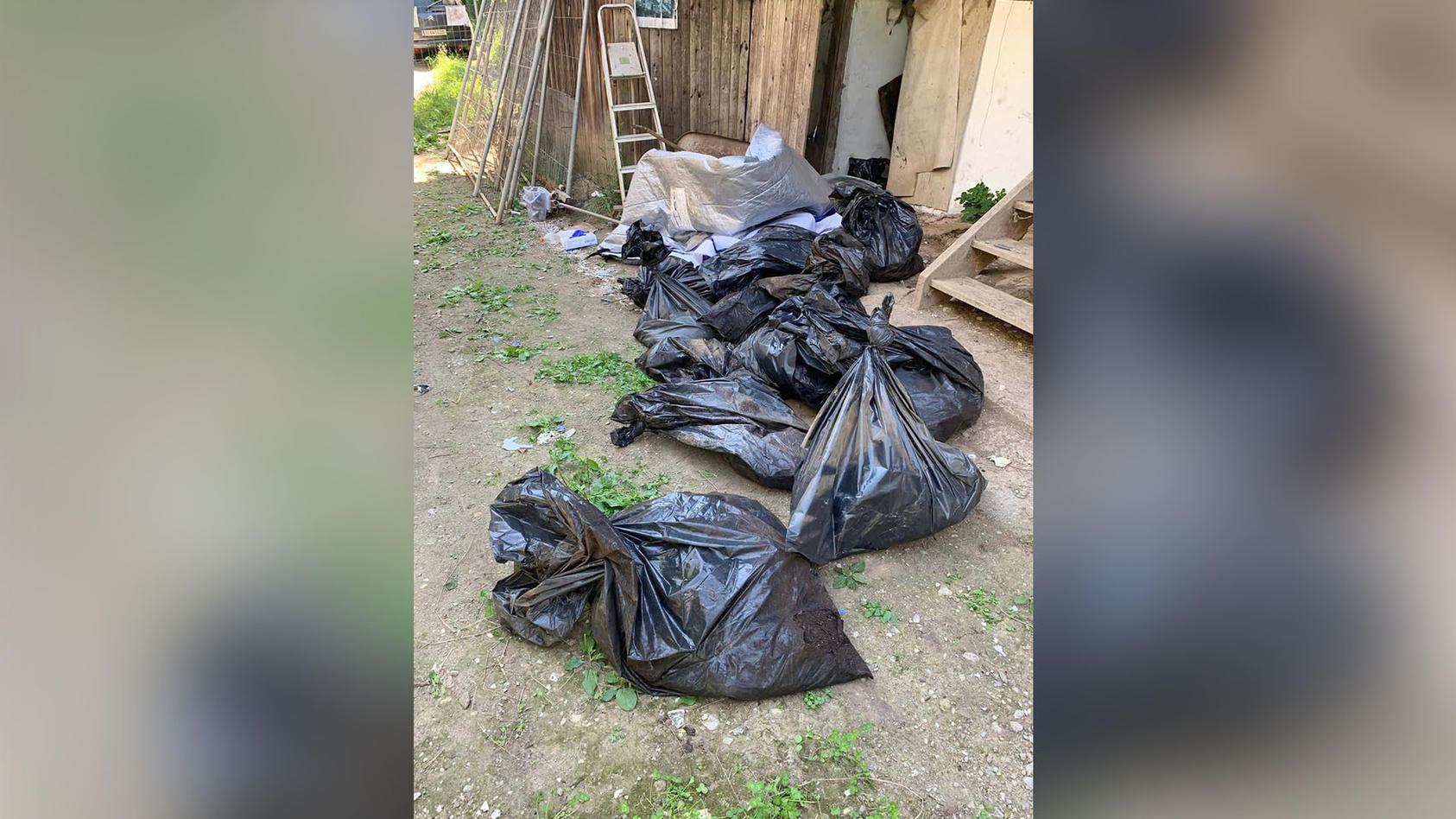 In Müllsäcken fanden Tierschützer 35 Hundekadaver.