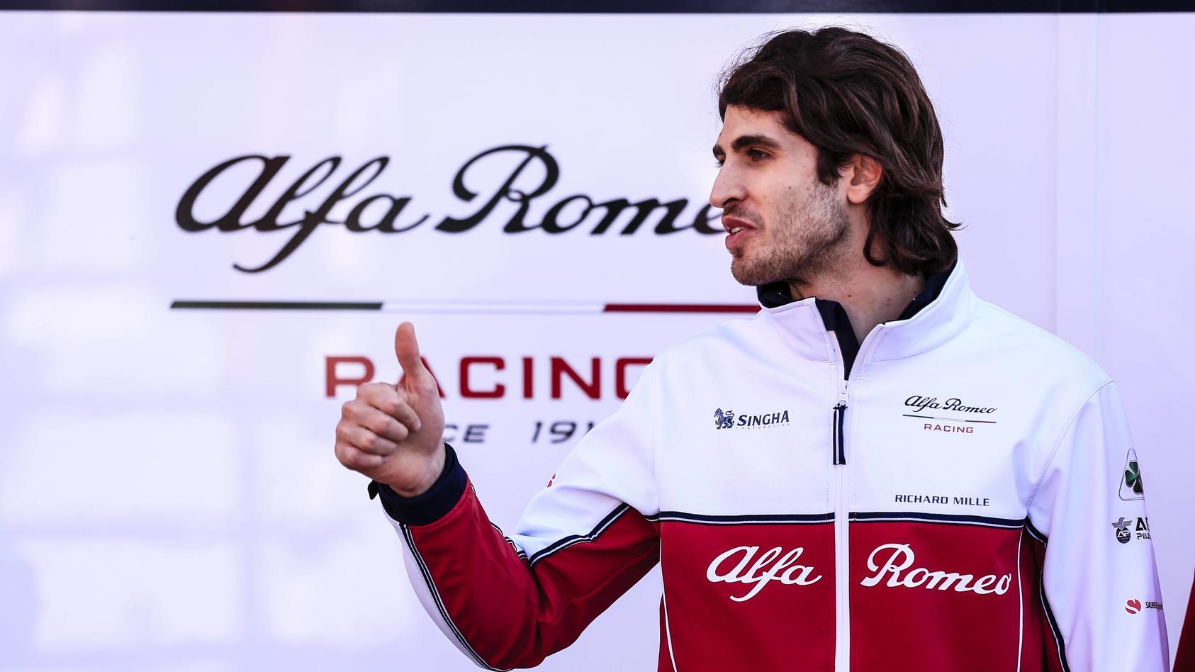 March 1 2019 Barcelona Barcelona Spain Antonio Giovinazzi from Italy with 99 Alfa Romeo Racin