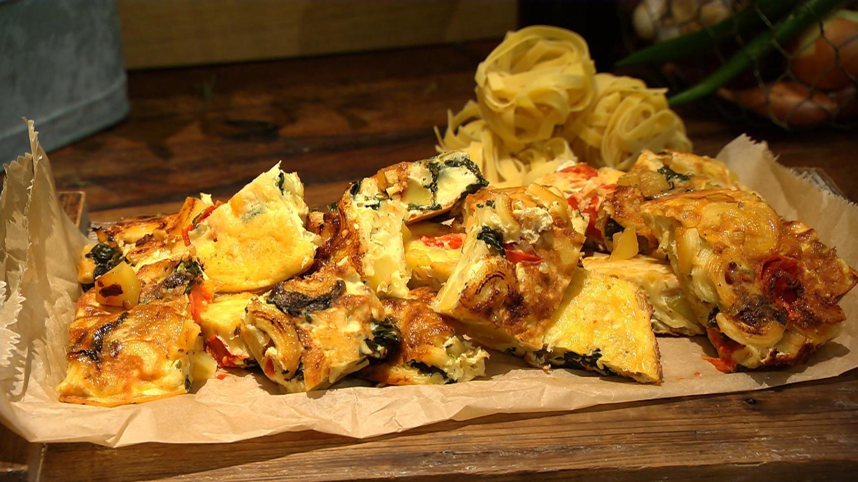 Nachschlag bitte – Pastagerichte, von denen man nicht genug bekommen kann: Nudel-Tortilla