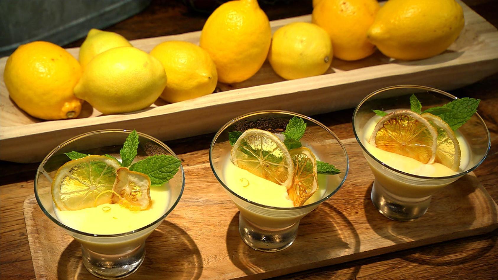 Rezeptideen, die immer geh'n: Zitronencreme mit Zitronenkrokant