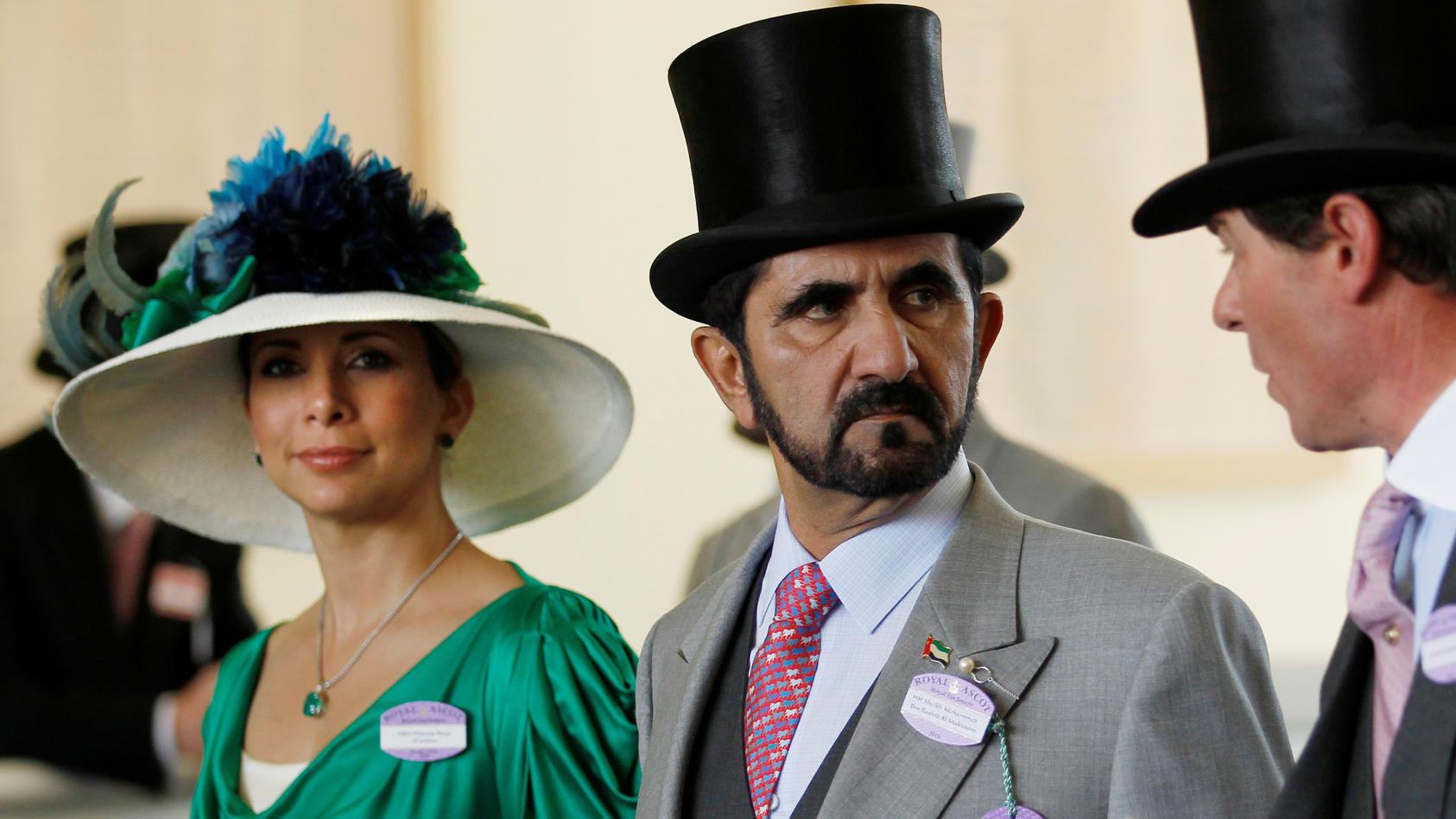 Prinzessin Haya und ihr damaliger Mann, Scheich Mohammed, beim Pferderennen in Ascot im Sommer 2010.