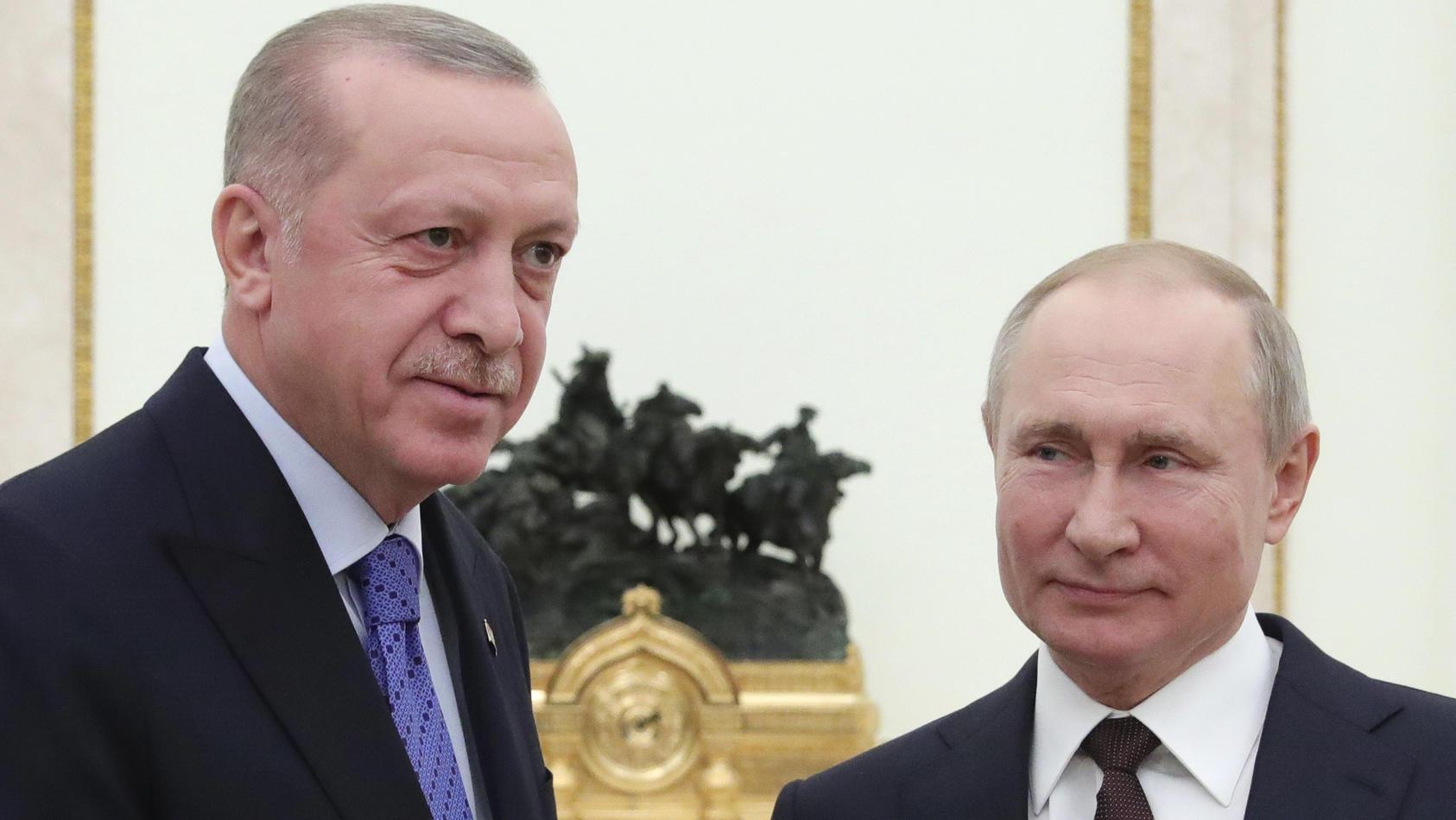 Türkischer Präsident Erdogan zu Besuch bei Wladimir Putin.