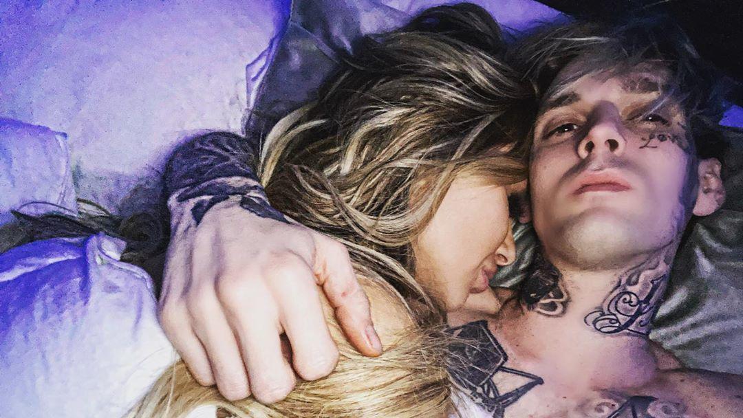 Aaron Carter mit seiner neuen Freundin Melanie