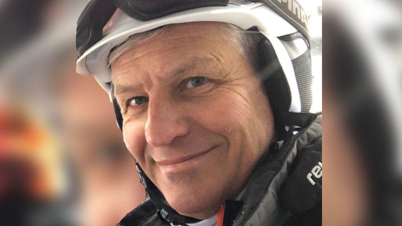 RTL-Reporter Christof Lang beim Skifahren in Ischgl