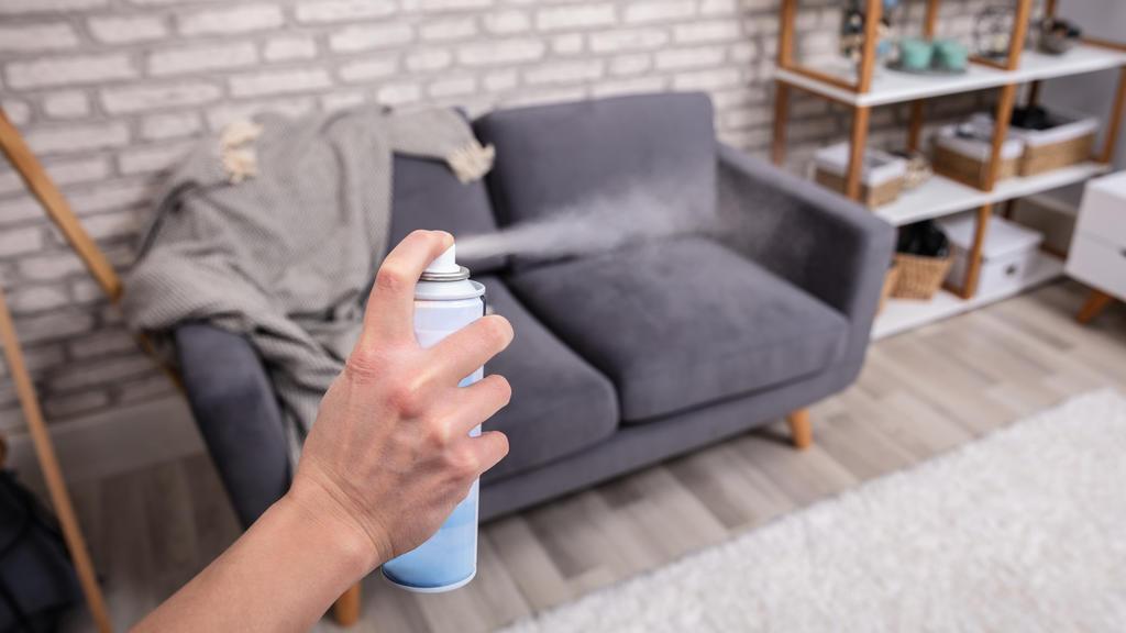 Raumspray sorgt für guten Duft beim Speed Cleaning