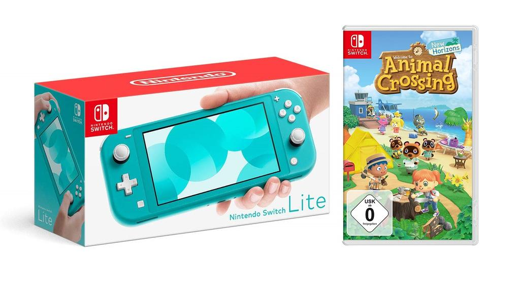 Switch Lite mit Animal Crossing: New Horizons im Bundle