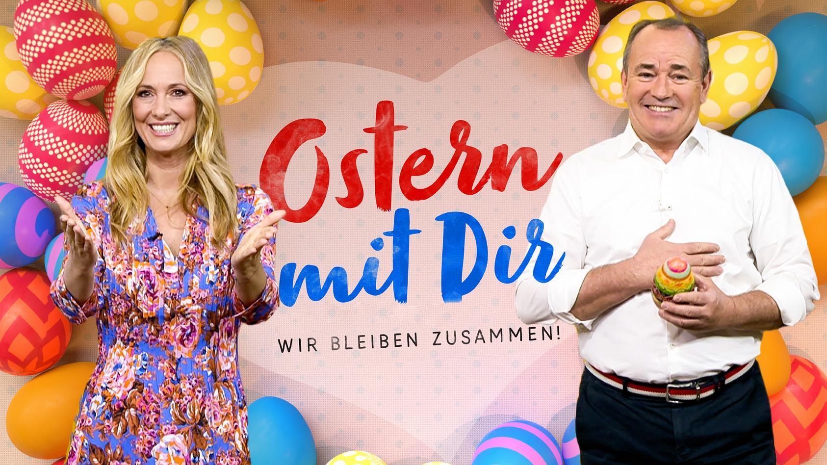 Angela Finger-Erben und Wolfram Kons moderieren die RTL-Liveshow an Ostersonntag.