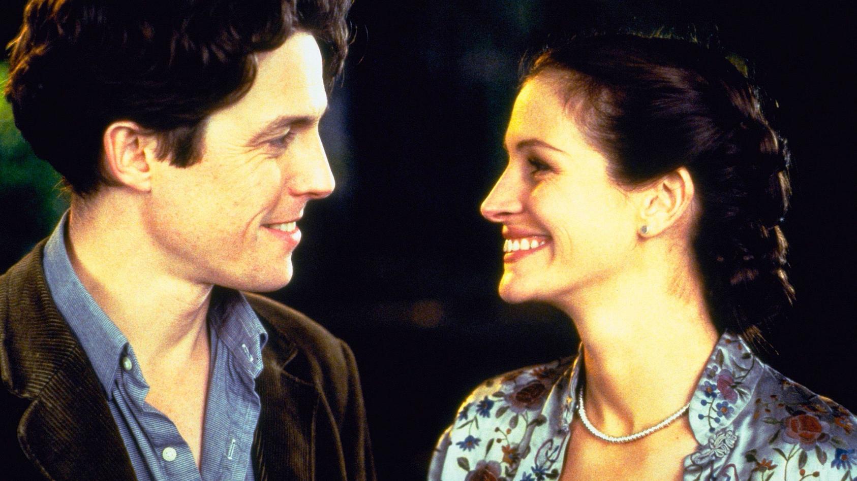 """Die Liebeskomödie """"Notting Hill"""" um Hugh Grant und Julia Roberts eroberte 1999 die Herzen der Zuschauer."""