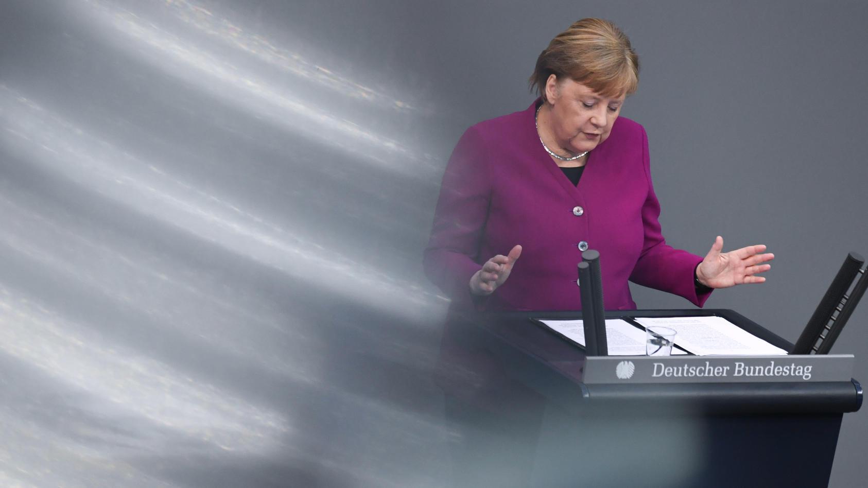 Videokonferenz Merkel Live