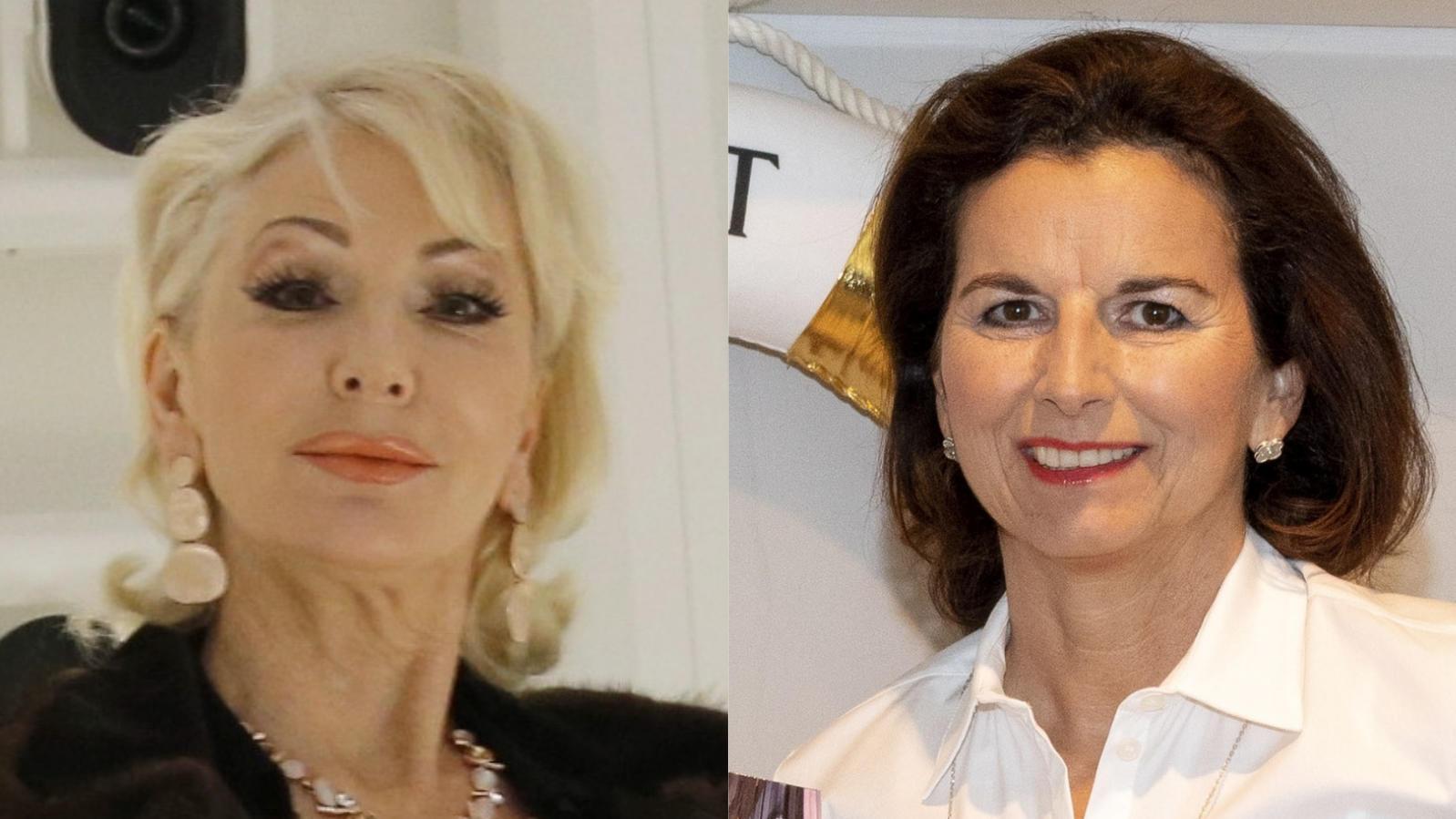 Désirée Nick (l.) nimmt ihre Kontrahentin Claudia Obert (r.) in Schutz.
