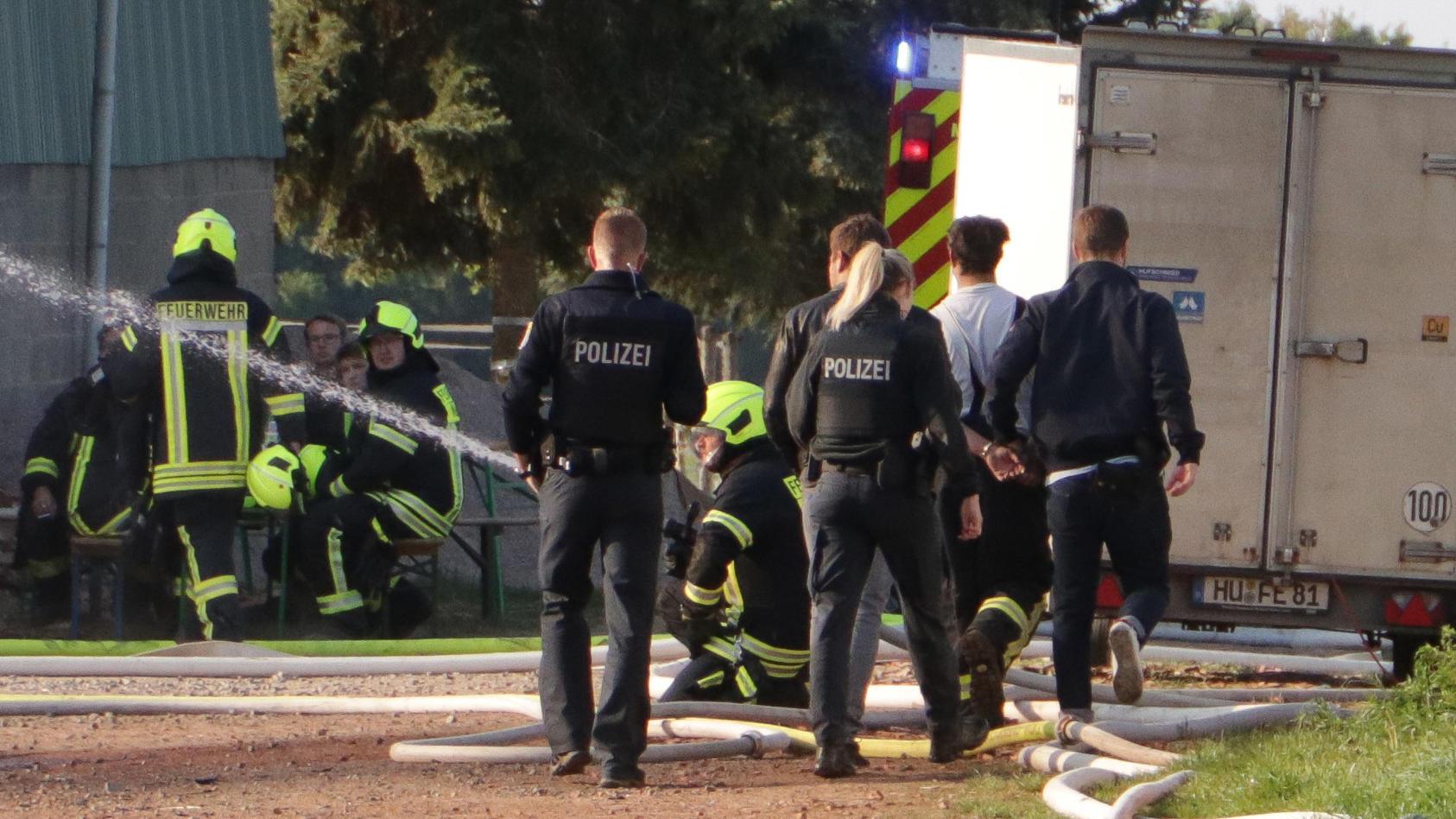 Festnahme nach Brand von Lagerhalle in Neuberg