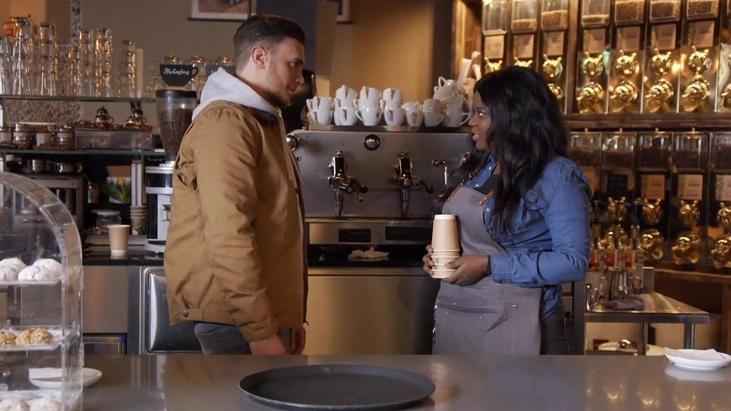 Ronny und Rachel im New Yorker Café.
