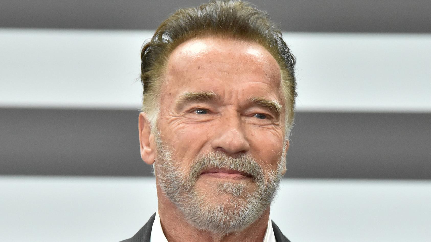 Arnold Schwarzenegger feiert mit seinem Esel Lulu Geburtstag.