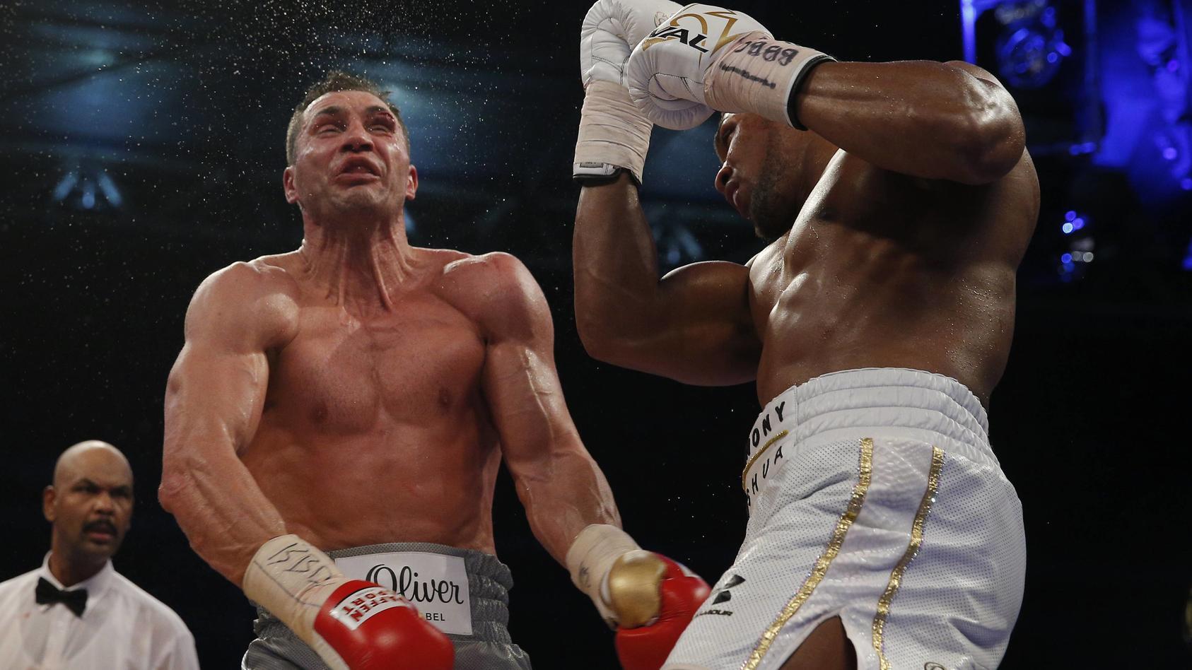Britain Boxing Anthony Joshua v Wladimir Klitschko IBF IBO & WBA Super World Heavyweight Title s
