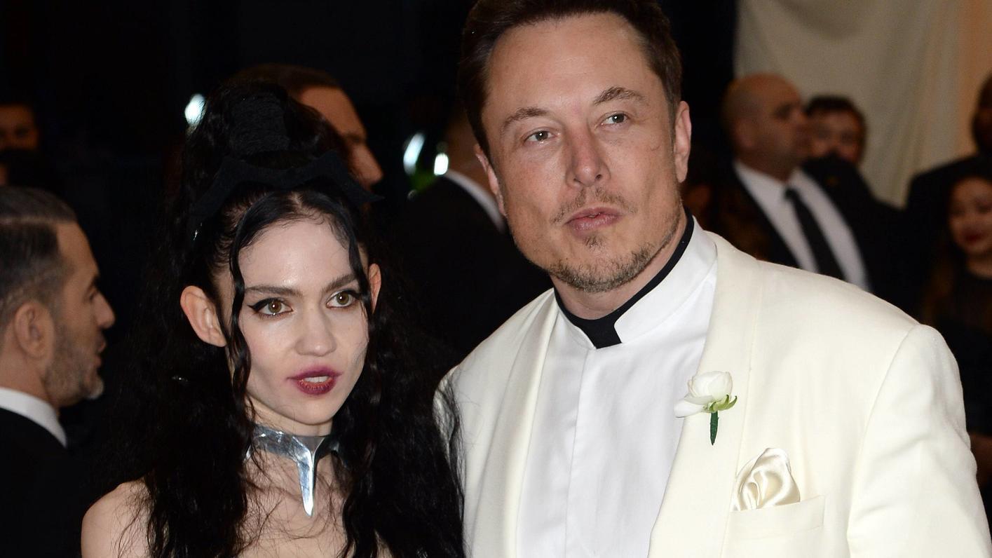 Sängerin Grimes und Unternehmer Elon Musk bei einer Veranstaltung 2018 in New York.