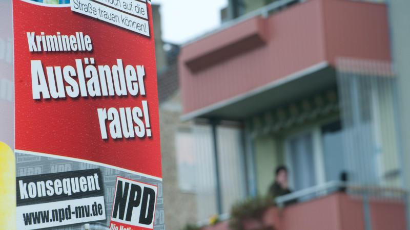 33 Prozent: NPD-Wahlwerbung findet sich überall in Koblentz.