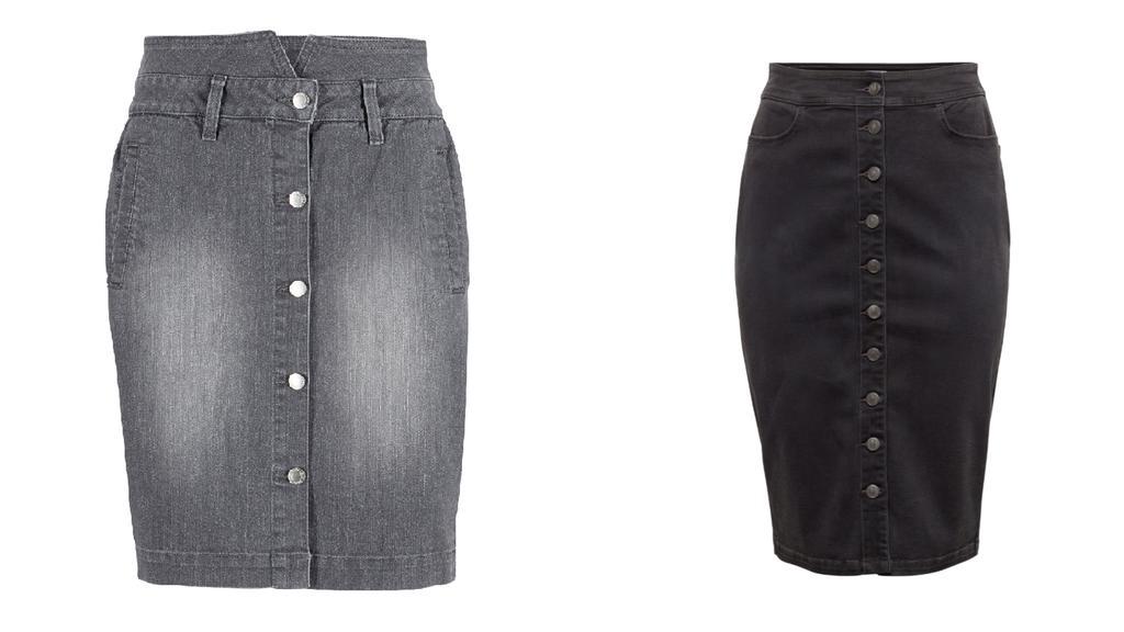 Jeansröcke von John Bayer und sheego.