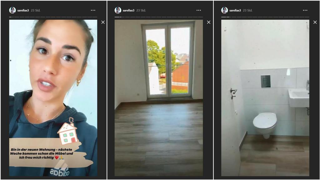 Sarah Lombardi präsentiert ihre neue Wohnung. Hier:
