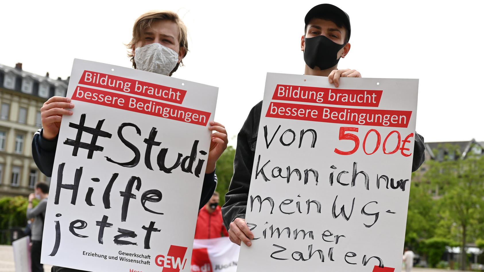 Kundgebung hessischer Studierendenvertretungen im Sommer 2020.