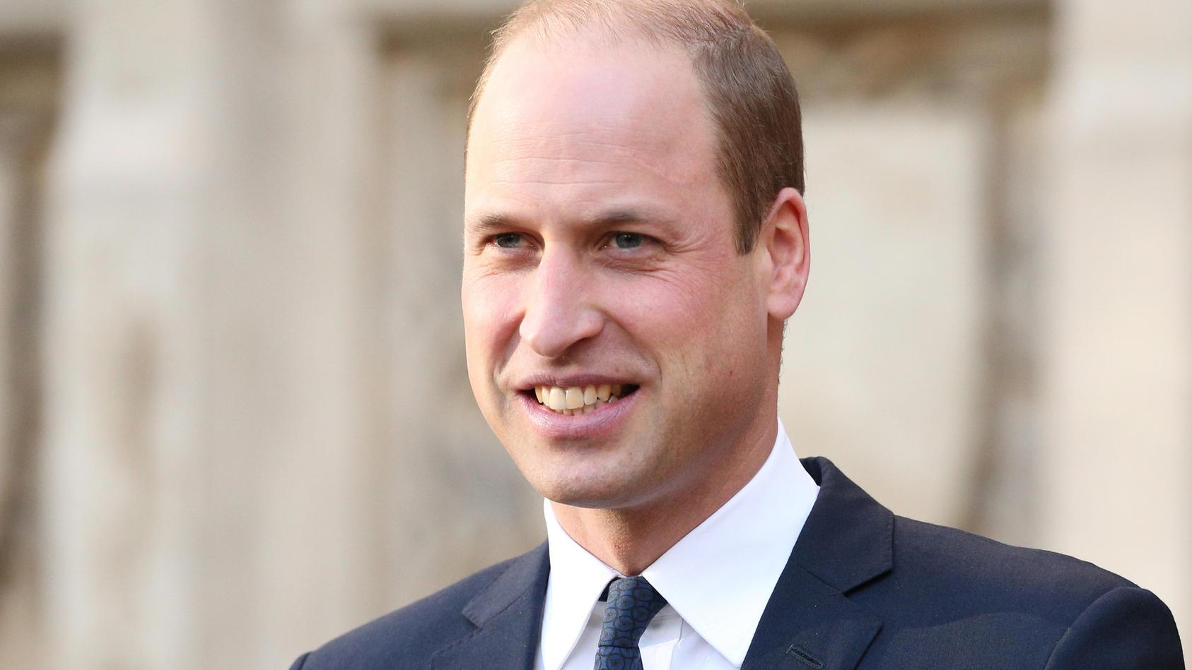 Prinz William zeigt sich zuversichtlich.