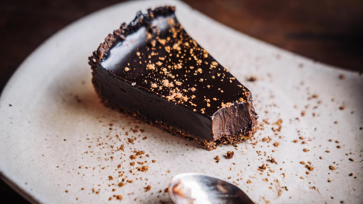 Eine gesunde Chocolate Tarte? Ja, so etwas gibt es